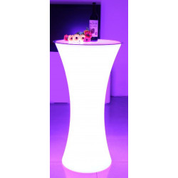 LOCATION Table Haute Lumineuse + Telecommande