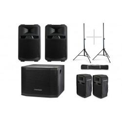 Audiophony Pack VIP 1200W RMS 2 x SR12A + Sub MT12A