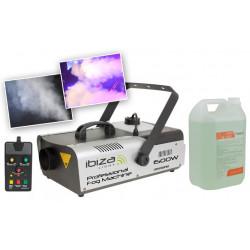 Ibiza LSM1500PRO Machine à fumée + Liquide à fumée