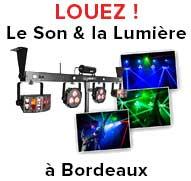 Location sono et jeu de lumière Bordeaux