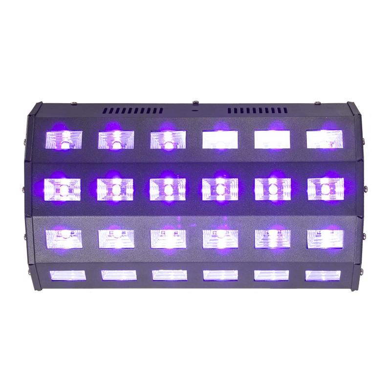 Ibiza BAR LED UV 24x3W - Barre effet lumière noire / Blacklight
