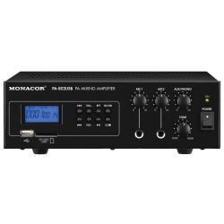 Monacor PA-802 USB - Ampli Ligne 100V + 12V