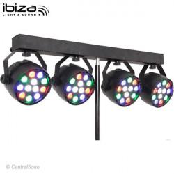 DJLIGHT 80 Ensemble 4 projecteurs sur pied Ibiza Light