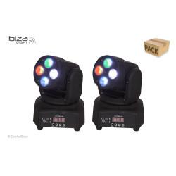 Ibiza Pack 2 Lyres LMH350RGBW-MINI