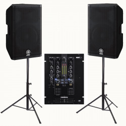 Location Pack 2 enceintes 2000W + Mixage DJ