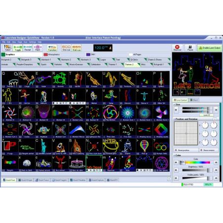 SCAN2000RGB Bundle Effet laser RGB + Logiciel Ibiza Light
