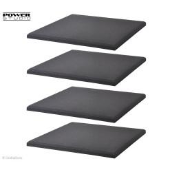 FOAM 500 FIBER SQUARE -Panneaux acoustique noir (x4) - Power Studio