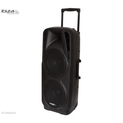 PORT225VHF-BT Système de sonorisation portable autonome 600W - Ibiza Sound