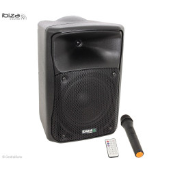 MOV8-CD - Système portable avec CD USB SD Bluetooth et micro HF - Ibiza sound