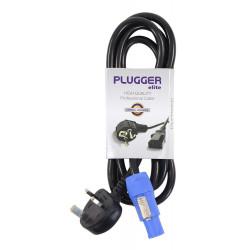Câble d'alimentation Powercon norme UK 1.8m Elite Plugger