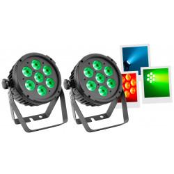 Mac Mah Pack 2 PAR LED 7x12W RGBW-UV