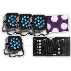 Contest Pack 4 Projecteurs + Contrôleur DMX